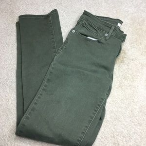 Army green Levi's mid rise skinny jeans size 29